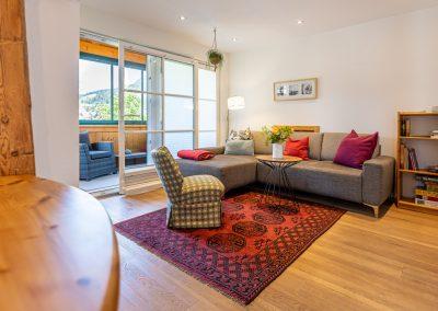 Ferienwohnung in Obersdorf - Gesamtansicht Wohnzimmer 3. BIld