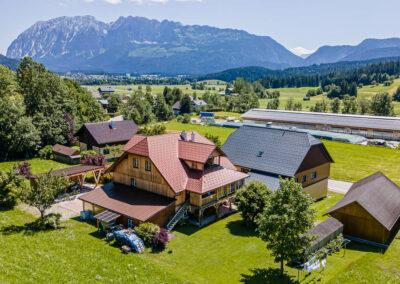 Ausseerland Blick von Obersdorf zum Grimming