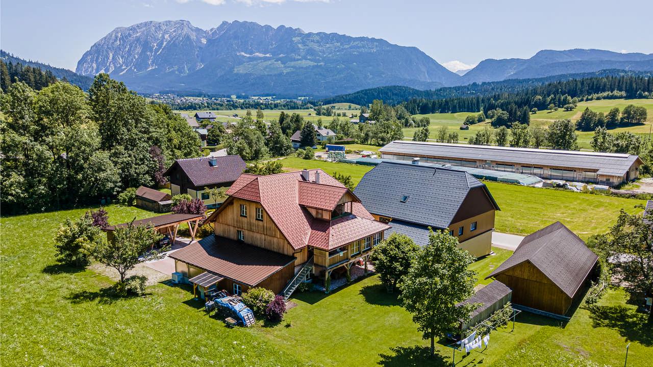 Preise und Anfrage - Ausseerland Blick von Obersdorf zum Grimming