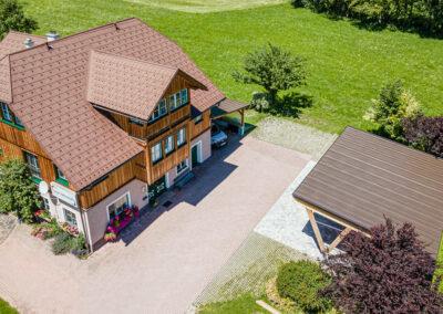 Ferienwohnung in Obersdorf - Hausansicht von oben